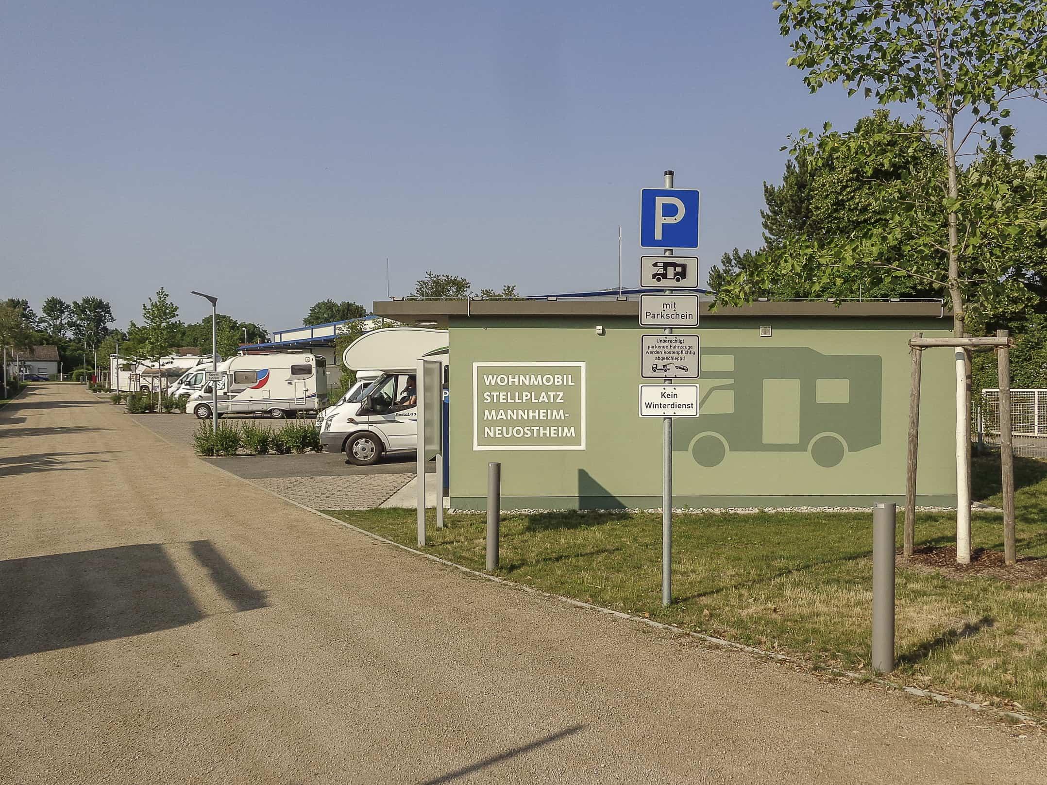 Wohnmobilstellplatz Mannheim, Mannheim, DE - CamperVita